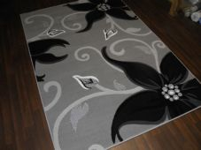 Modern Approx 8x5ft 160x230cm Great Bargains Silver-Black Top Quality Lily Rug